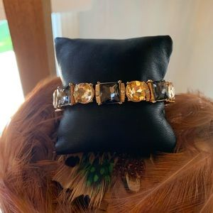Fall Sparkles, Bracelet Smokey and Gold Crystals